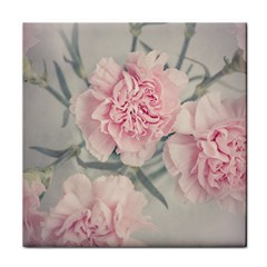 Cloves Flowers Pink Carnation Pink Tile Coasters by Amaryn4rt