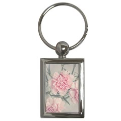 Cloves Flowers Pink Carnation Pink Key Chains (rectangle)  by Amaryn4rt