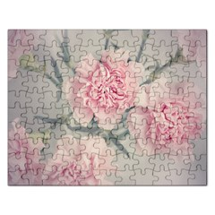 Cloves Flowers Pink Carnation Pink Rectangular Jigsaw Puzzl by Amaryn4rt