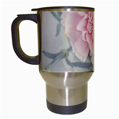 Cloves Flowers Pink Carnation Pink Travel Mugs (white) by Amaryn4rt