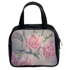 Cloves Flowers Pink Carnation Pink Classic Handbags (2 Sides)
