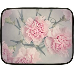 Cloves Flowers Pink Carnation Pink Double Sided Fleece Blanket (mini)  by Amaryn4rt