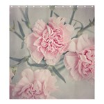 Cloves Flowers Pink Carnation Pink Shower Curtain 66  x 72  (Large)  58.75 x64.8 Curtain