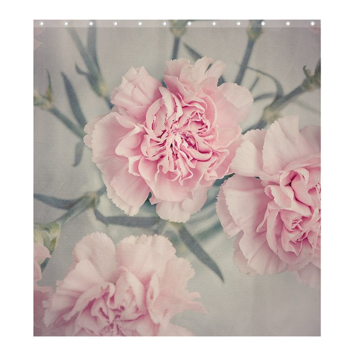 Cloves Flowers Pink Carnation Pink Shower Curtain 66  x 72  (Large)