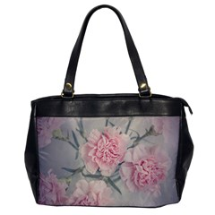 Cloves Flowers Pink Carnation Pink Office Handbags by Amaryn4rt