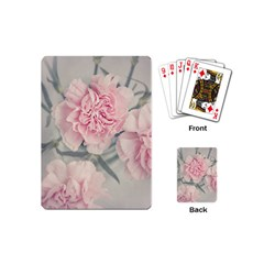 Cloves Flowers Pink Carnation Pink Playing Cards (mini)  by Amaryn4rt