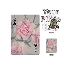 Cloves Flowers Pink Carnation Pink Playing Cards 54 (mini)  by Amaryn4rt