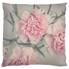 Cloves Flowers Pink Carnation Pink Large Cushion Case (one Side) by Amaryn4rt