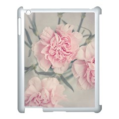 Cloves Flowers Pink Carnation Pink Apple Ipad 3/4 Case (white) by Amaryn4rt