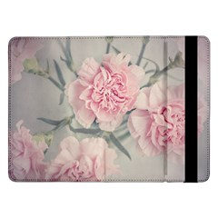 Cloves Flowers Pink Carnation Pink Samsung Galaxy Tab Pro 12 2  Flip Case