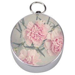 Cloves Flowers Pink Carnation Pink Silver Compasses by Amaryn4rt