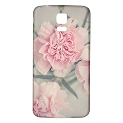 Cloves Flowers Pink Carnation Pink Samsung Galaxy S5 Back Case (white)