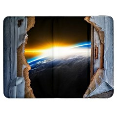 Door Breakthrough Door Sunburst Samsung Galaxy Tab 7  P1000 Flip Case by Amaryn4rt