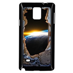 Door Breakthrough Door Sunburst Samsung Galaxy Note 4 Case (black) by Amaryn4rt
