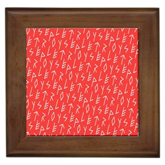 Red Alphabet Framed Tiles by Jojostore