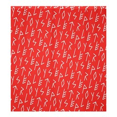 Red Alphabet Shower Curtain 66  X 72  (large)  by Jojostore