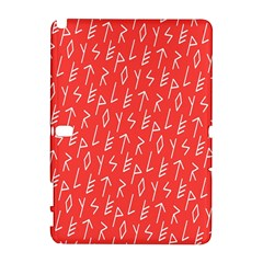 Red Alphabet Galaxy Note 1 by Jojostore