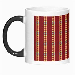 Pattern Background Red Stripes Morph Mugs by Amaryn4rt