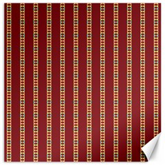 Pattern Background Red Stripes Canvas 12  X 12   by Amaryn4rt