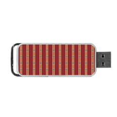 Pattern Background Red Stripes Portable Usb Flash (one Side) by Amaryn4rt