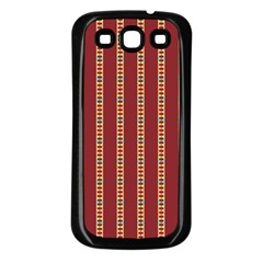 Pattern Background Red Stripes Samsung Galaxy S3 Back Case (black) by Amaryn4rt