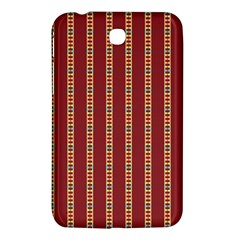 Pattern Background Red Stripes Samsung Galaxy Tab 3 (7 ) P3200 Hardshell Case  by Amaryn4rt