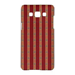 Pattern Background Red Stripes Samsung Galaxy A5 Hardshell Case  by Amaryn4rt