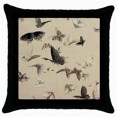 Vintage Old Fashioned Antique Throw Pillow Case (black) by Amaryn4rt