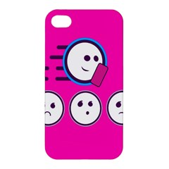 Run Face Pink Apple Iphone 4/4s Premium Hardshell Case