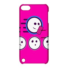 Run Face Pink Apple Ipod Touch 5 Hardshell Case With Stand by Jojostore
