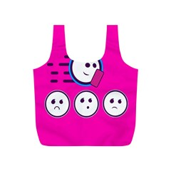 Run Face Pink Full Print Recycle Bags (s)  by Jojostore