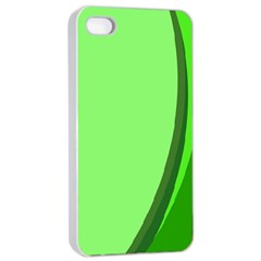 Simple Green Apple Iphone 4/4s Seamless Case (white) by Jojostore