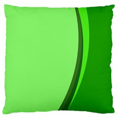 Simple Green Large Flano Cushion Case (one Side) by Jojostore