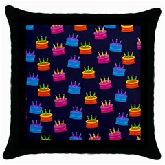 Seamless Tile Repeat Pattern Throw Pillow Case (black)