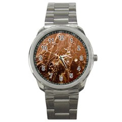 Ice Iced Structure Frozen Frost Sport Metal Watch