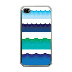 Water Border Water Waves Ocean Sea Apple Iphone 4 Case (clear)
