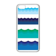 Water Border Water Waves Ocean Sea Apple Iphone 5c Seamless Case (white) by Amaryn4rt