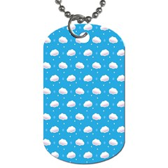 Seamless Fluffy Cloudy And Sky Dog Tag (two Sides)