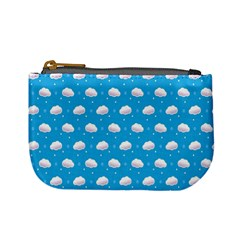 Seamless Fluffy Cloudy And Sky Mini Coin Purses by Jojostore