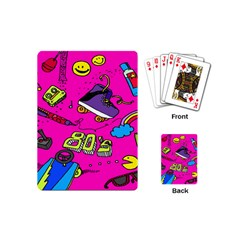 Smile Cute Face Purple Playing Cards (mini)  by Jojostore