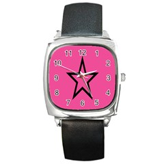 Star Square Metal Watch
