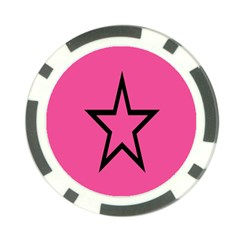 Star Poker Chip Card Guards by Jojostore