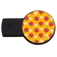 Strawberry Usb Flash Drive Round (4 Gb)