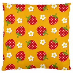 Strawberry Standard Flano Cushion Case (two Sides) by Jojostore