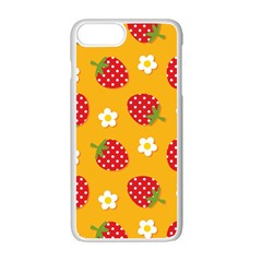 Strawberry Apple Iphone 7 Plus White Seamless Case