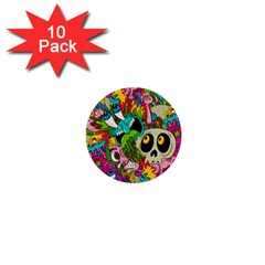 Sick Pattern 1  Mini Buttons (10 Pack)
