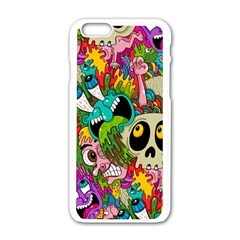 Sick Pattern Apple Iphone 6/6s White Enamel Case by Jojostore