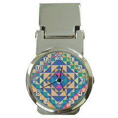 Tiling Pattern Money Clip Watches by Jojostore
