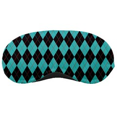 Tumblr Static Argyle Pattern Blue Black Sleeping Masks by Jojostore