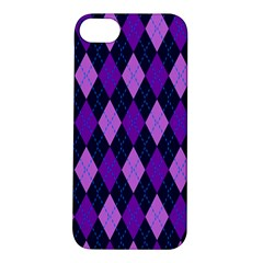 Tumblr Static Argyle Pattern Blue Purple Apple Iphone 5s/ Se Hardshell Case